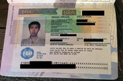 my new shiny Brazilian visa