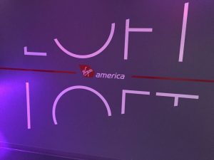 That good old Virgin America mood lighting.