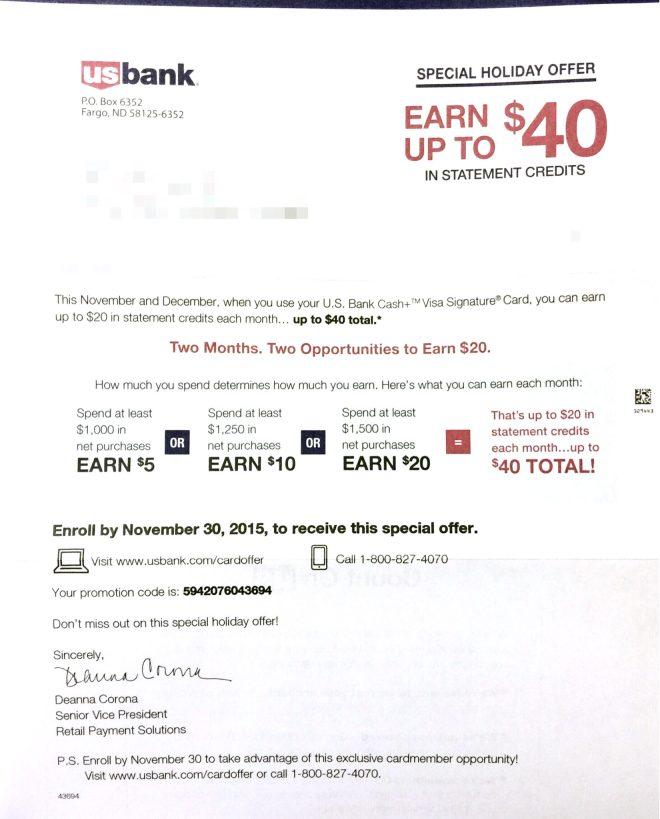 US Bank Spending Bonus