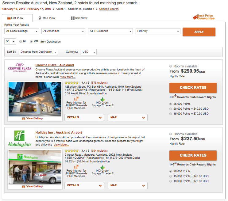 IHG hotel options for Auckland