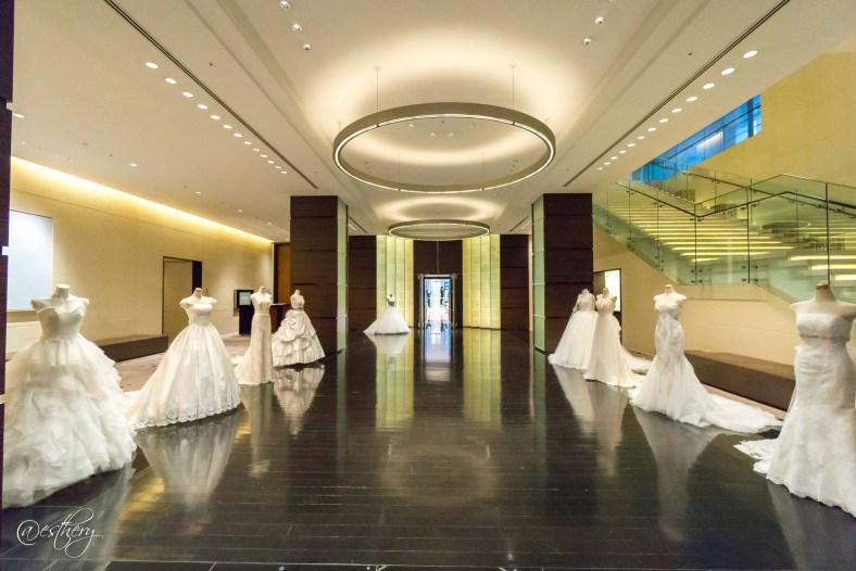 Bridal dress display