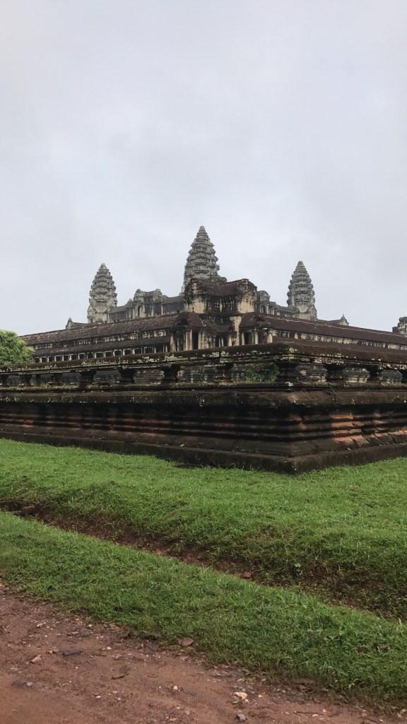 Outside the walls of Angkor Wat