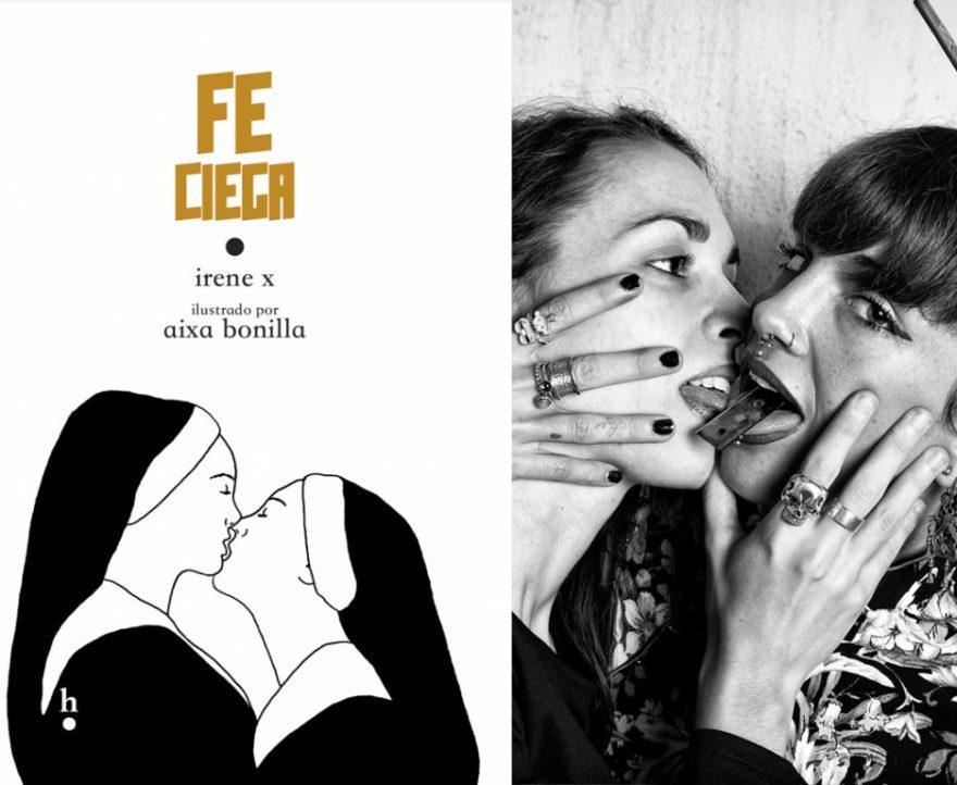 Harpo Libros- Fotografía de las autoras y tratamiento digital de las imágenes del libro Fe Ciega de Irene X y Aixa Bonilla.