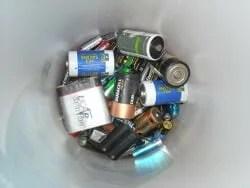 piles batteries USAGÉES