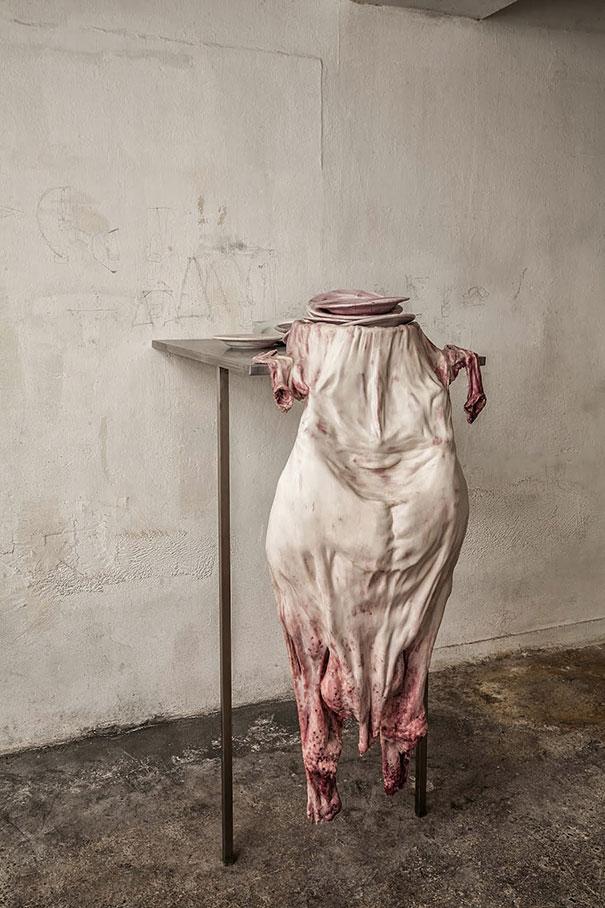 Creepy Human Skin Sculptures by Francesco Albano  DeMilked