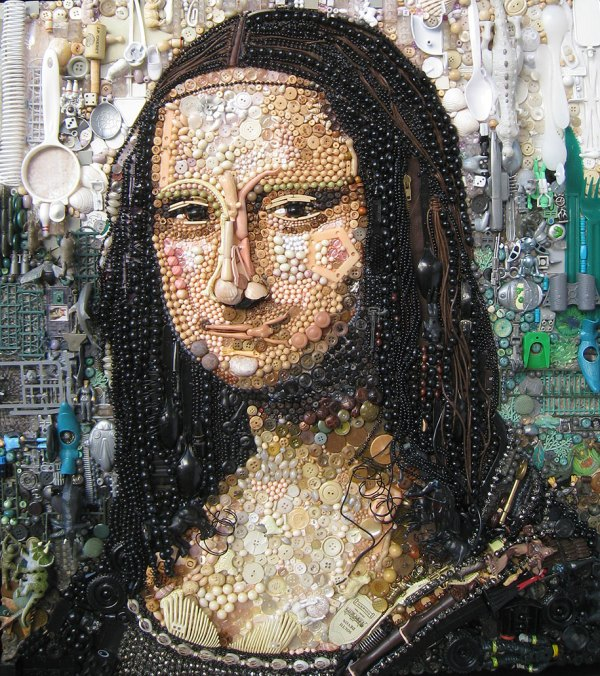 Artist -creates Iconic Portraits With Thousands Of Objects