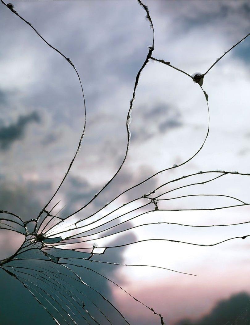 broken mirror evening sky photography bing wright 3 - Pôr-do-sol visto através de espelhos quebrados