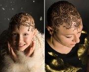 beautiful henna crowns cancer