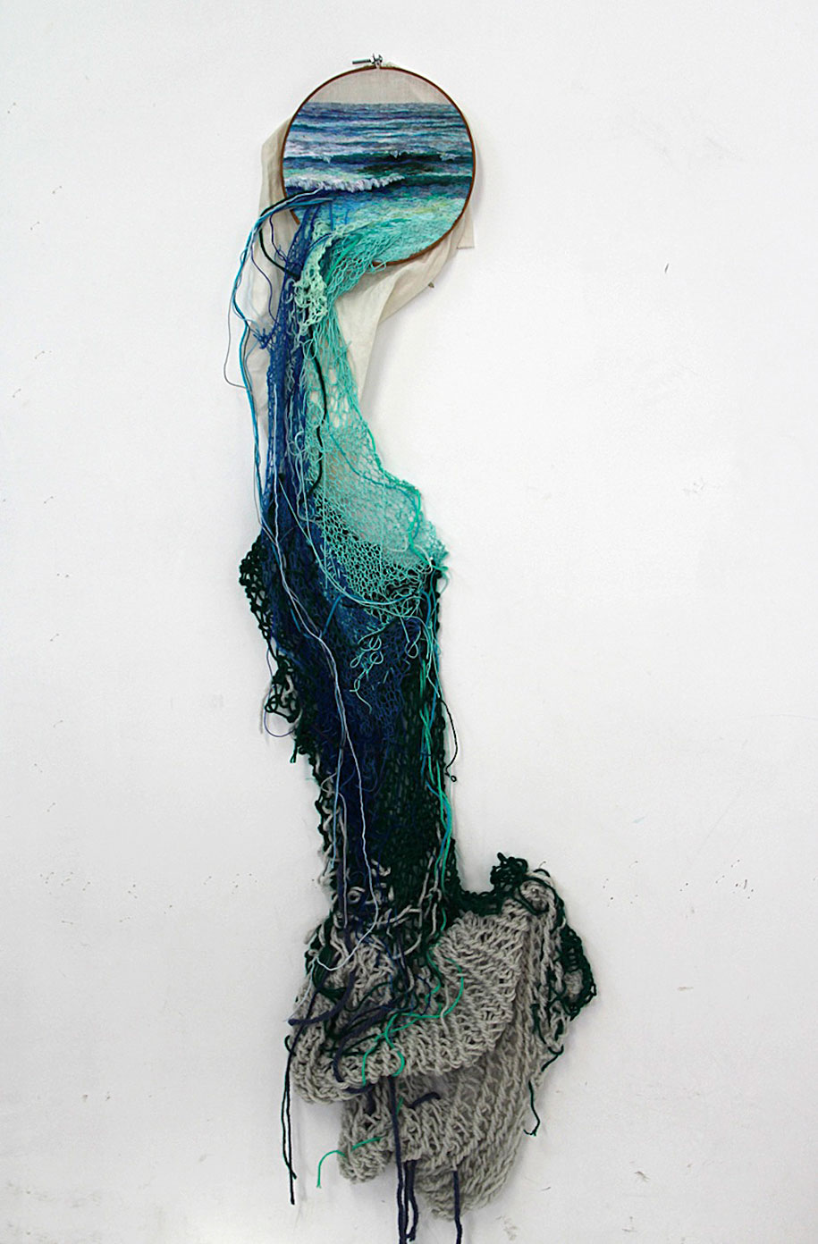 Landscape Embroidery Art Flows Out Over Its Frames  DeMilked