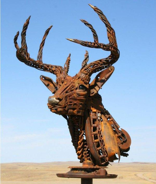 Scrap Metal Sculptures Of Farm Equipment John