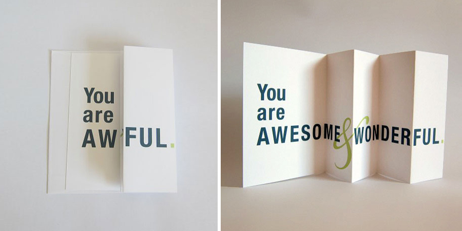 Seemingly Offensive Cards That Fold Out Into Brilliant