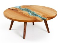 Unique Wooden Tables Embedded With Glass Rivers and Lakes ...