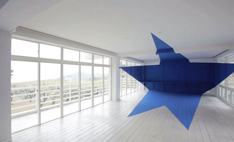 forced perspective art bending space georges rousse 10 - Foto em perspectiva: Arte geométrica 3D por Georges Rousse é visível apenas de um ângulo