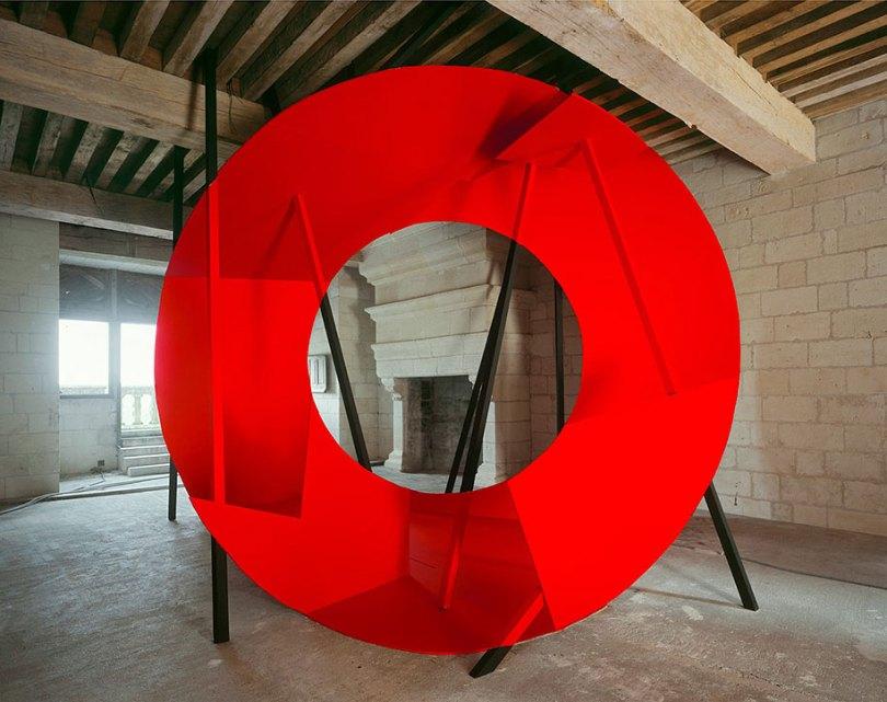 forced perspective art bending space georges rousse 3 - Foto em perspectiva: Arte geométrica 3D por Georges Rousse é visível apenas de um ângulo