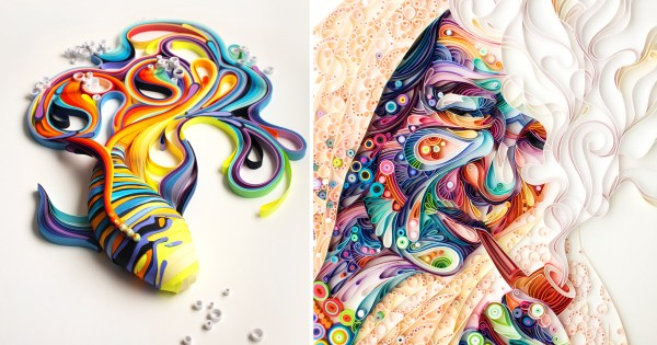 Russian Artist Creates Colorful Illustrations Of Colored Paper