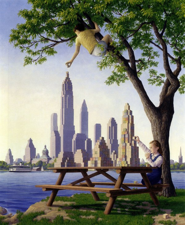 Mind-bending Paintings Canadian Artist Rob Gonsalves
