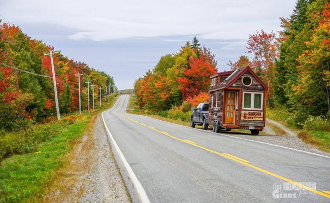 Couple Quits Their Jobs Builds Tiny House On Wheels And