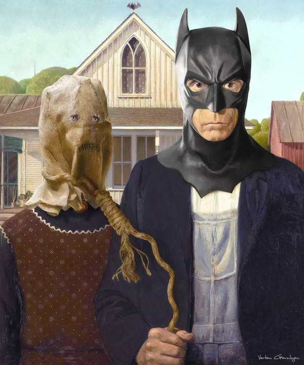 Famous Paintings Turned Batman Pop Art