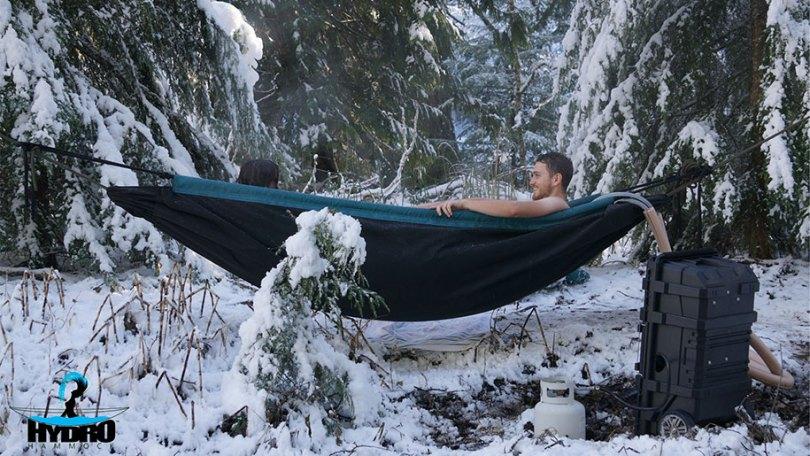 nature outdoor hot tub hydro hammock benjamin frederick 5 - Banheira estilo rede
