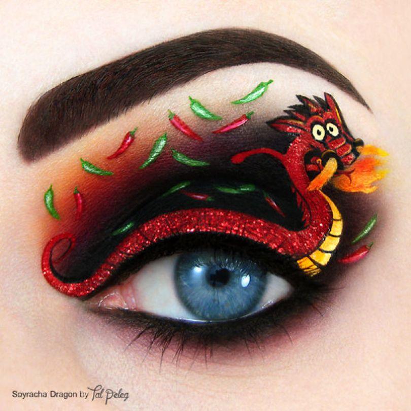make up eyelid eye art drawings tal peleg israel 12 - Artista israelense desenha arte de maquiagem em suas próprias pálpebras
