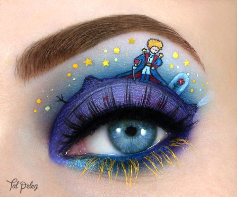 make up eyelid eye art drawings tal peleg israel 14 - Artista israelense desenha arte de maquiagem em suas próprias pálpebras