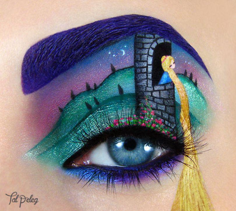make up eyelid eye art drawings tal peleg israel 15 - Artista israelense desenha arte de maquiagem em suas próprias pálpebras