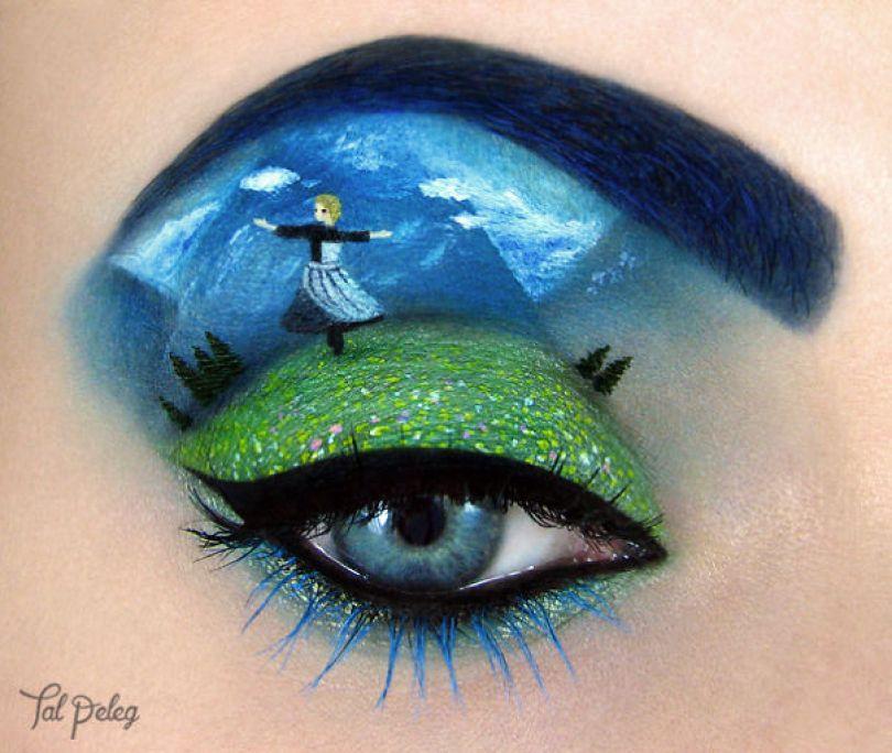 make up eyelid eye art drawings tal peleg israel 16 - Artista israelense desenha arte de maquiagem em suas próprias pálpebras