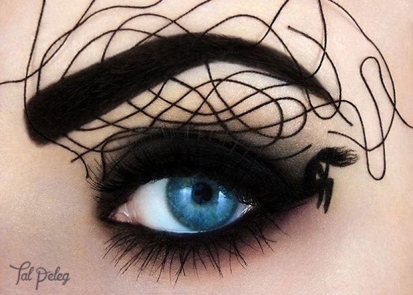 make up eyelid eye art drawings tal peleg israel 17 - Artista israelense desenha arte de maquiagem em suas próprias pálpebras