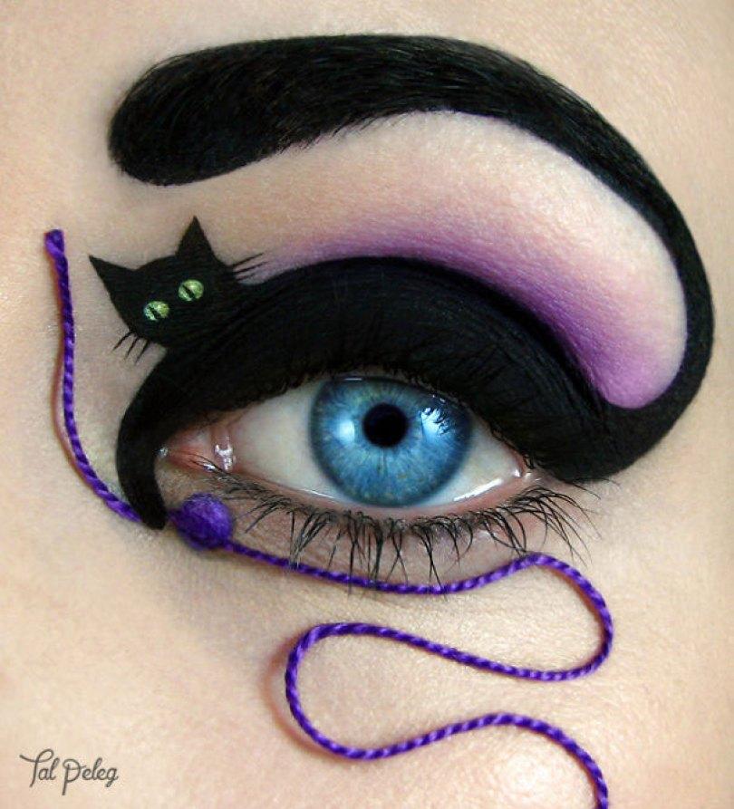 make up eyelid eye art drawings tal peleg israel 24 - Artista israelense desenha arte de maquiagem em suas próprias pálpebras