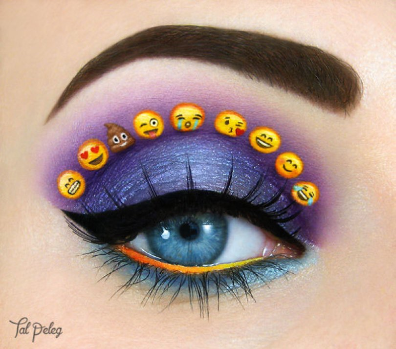 make up eyelid eye art drawings tal peleg israel 4 - Artista israelense desenha arte de maquiagem em suas próprias pálpebras