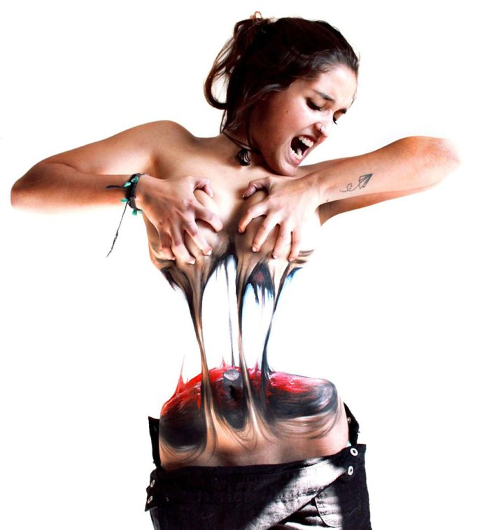 Woman Tears Herself Apart In Mind-Blowing Body Art | DeMilked