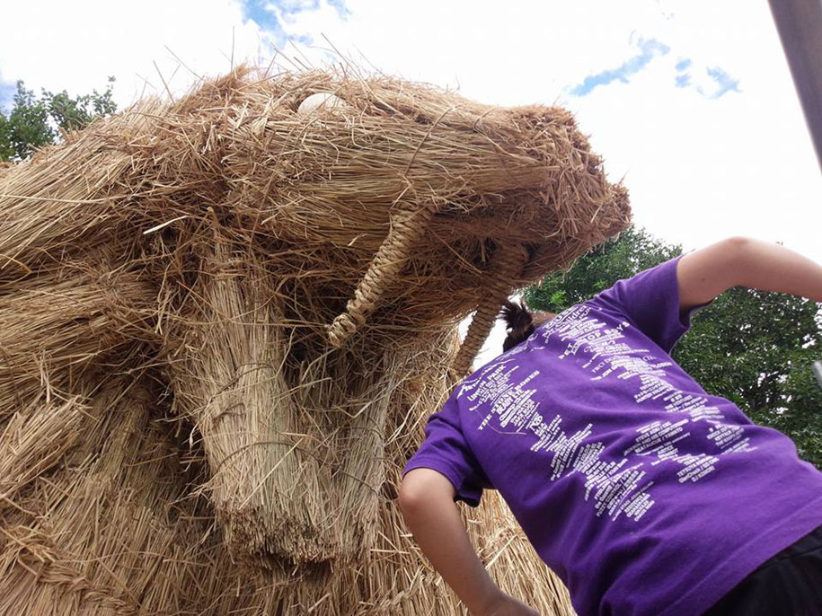 dinosaur-straw-sculptures-wara-art-festival-2015-niigata-japan-12