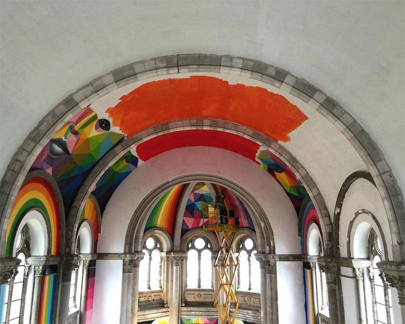 abandoned church skate park kaos temple okuda san miguel 2 - Igreja abandonada de 100 anos transformada em parque de skate com tema de graffiti