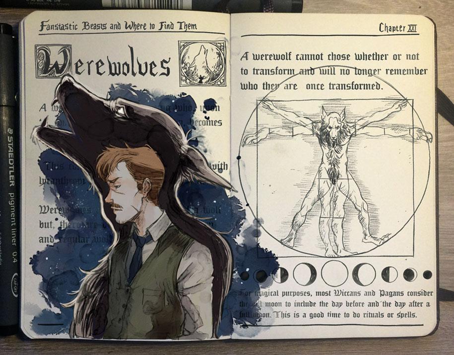 artist beautifully illustrates magic