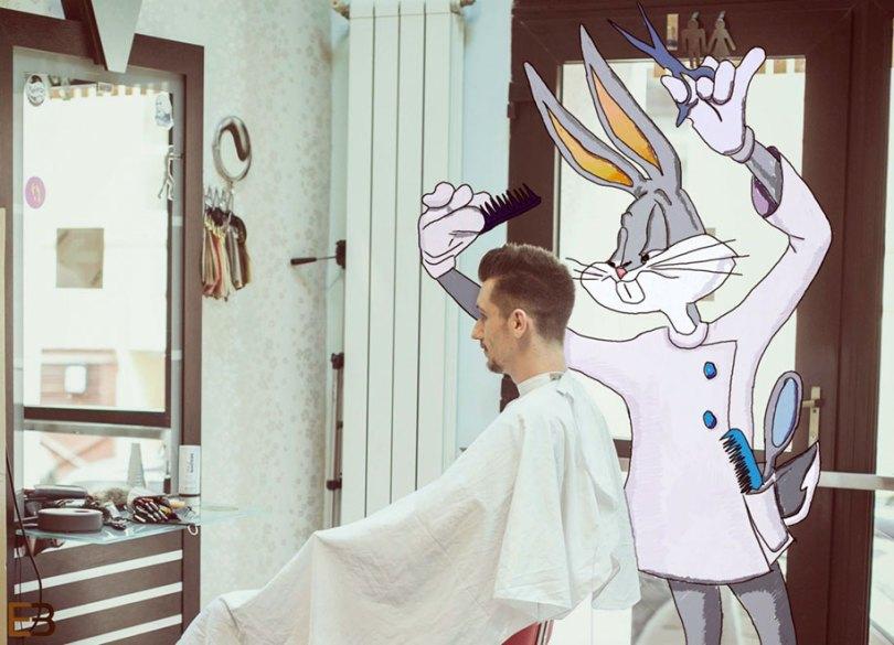 cartoons real life pictures drawing ervin boer 18 - Artista interage com personagens de desenhos animados em fotos