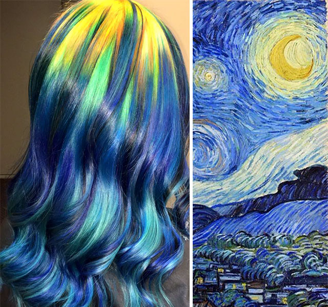 Hairstylist Paints Hair Into Classic Paintings