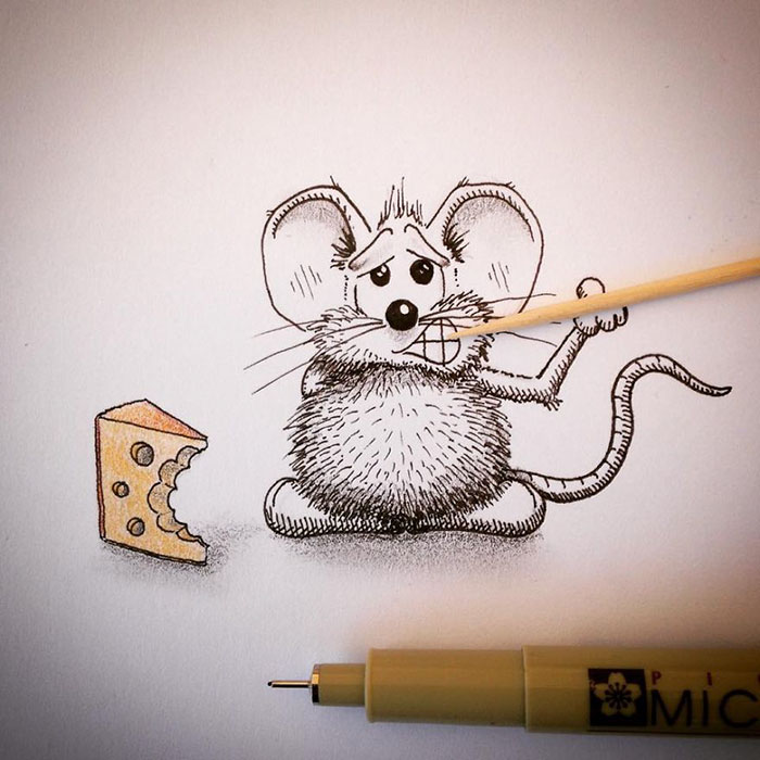 Adorable Mouse Drawings