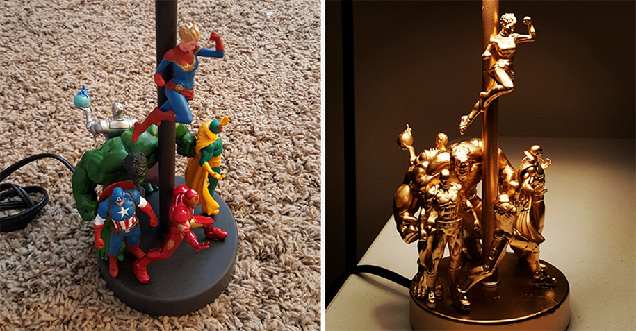 DIY Project: Lamp Made From Cheap Action Figures