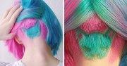 rainbow cat haircut hot