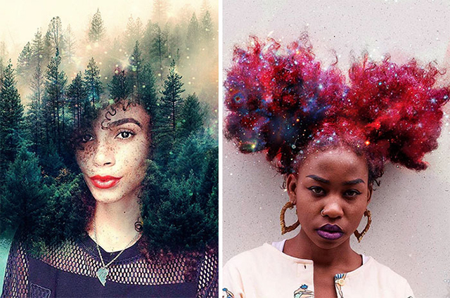 Artist Turns Afro Hairstyles Into Flowery Galaxies To Remind Black