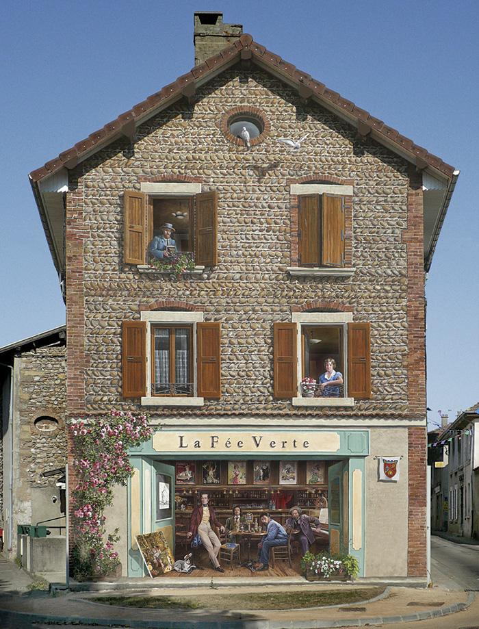 street art hyper realistic fake facades patrick commecy 16 - Artista francês transforma fachadas de prédios em desenhos cheios de vida