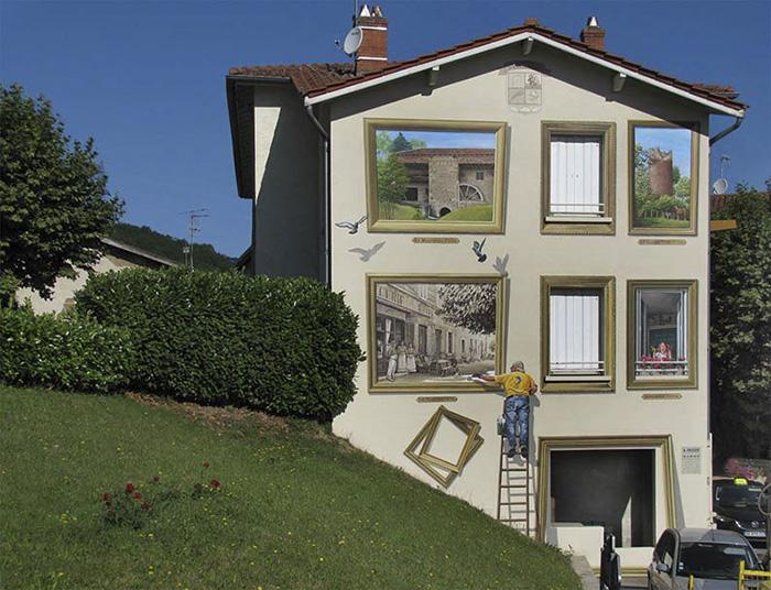 street art hyper realistic fake facades patrick commecy 25 - Artista francês transforma fachadas de prédios em desenhos cheios de vida