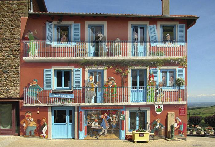 street art hyper realistic fake facades patrick commecy 7 - Artista francês transforma fachadas de prédios em desenhos cheios de vida