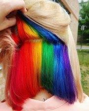 hidden-rainbow hair