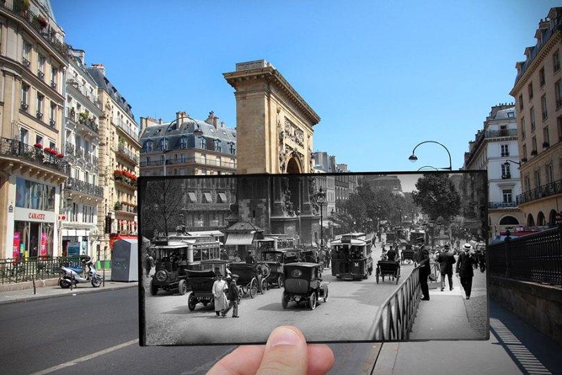 old paris past now photography julien knez 4 - Paris no passado nestas fotos justapostas
