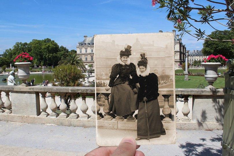 old paris past now photography julien knez 7 - Paris no passado nestas fotos justapostas