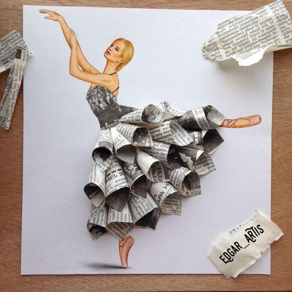 Armenian Illustrator Creates Amazing Dress Design