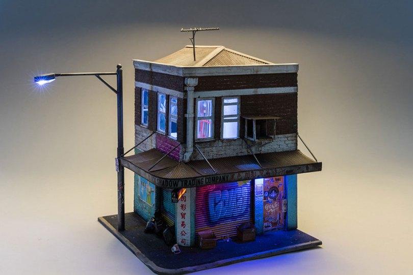 gritty urban miniature cities joshua smith 10 - Cidade em miniatura urbana em detalhes