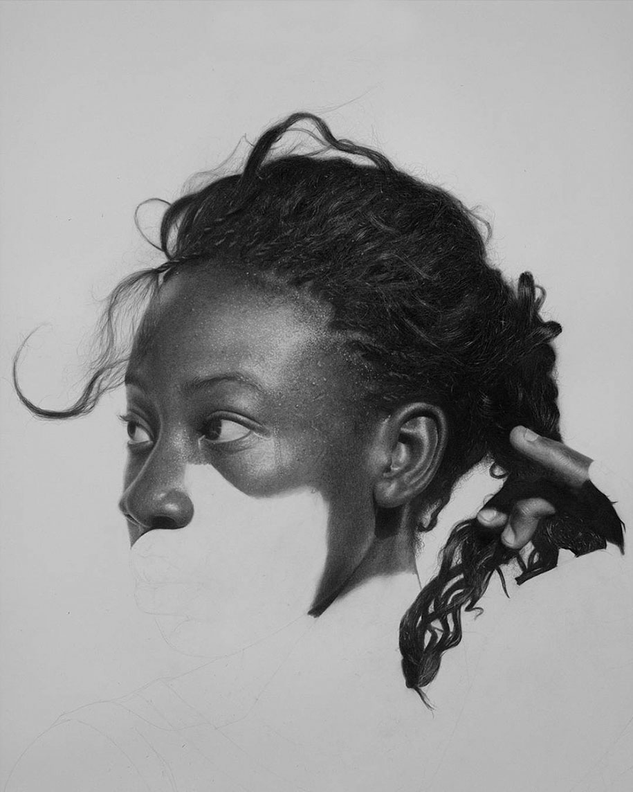 hyperrealistic pencil drawings by