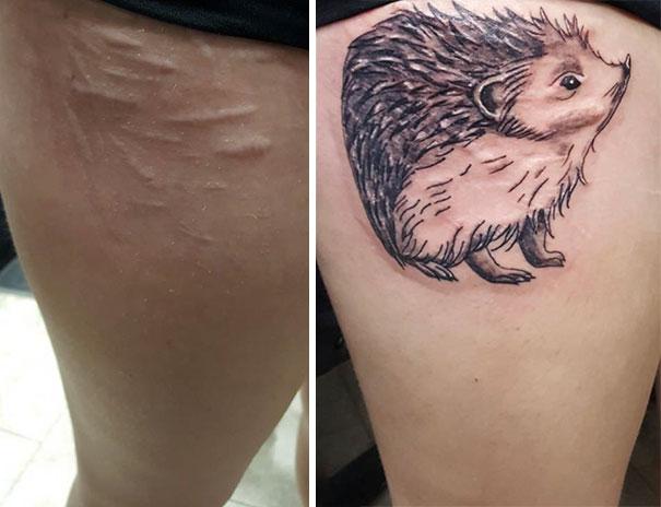scars tattoos cover up 14 - 50 Incríveis tatuagens de encobrimento de cicatrizes